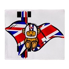British Racing Throw Blanket