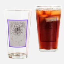 Persian Cat Drinking Glass