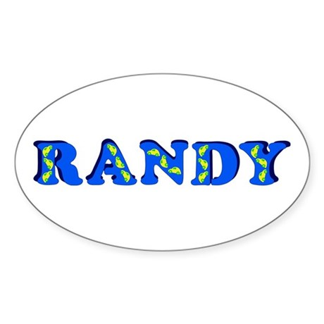 Randy Sticker (Oval)