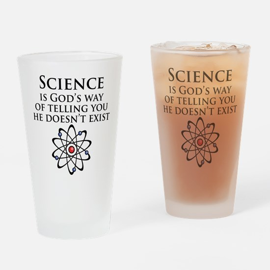 Science is God's Way Drinking Glass
