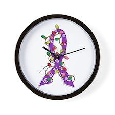 Christmas Lights Ribbon Anorexia Wall Clock