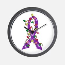 Christmas Lights Ribbon Anorexia Wall Clock