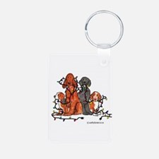 Dog Christmas Party Keychains