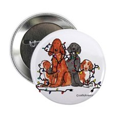 "Dog Christmas Party 2.25"" Button (10 pack)"