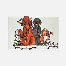 Dog Christmas Party Rectangle Magnet