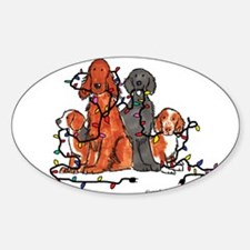 Dog Christmas Party Decal