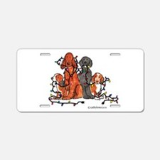 Dog Christmas Party Aluminum License Plate