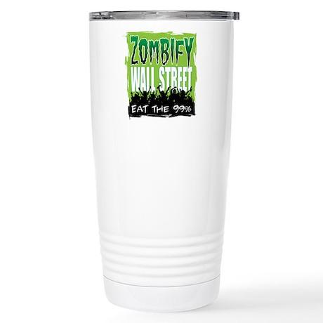 Zombify Wall Street Stainless Steel Travel Mug