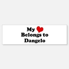 My Heart: Dangelo Bumper Bumper Bumper Sticker