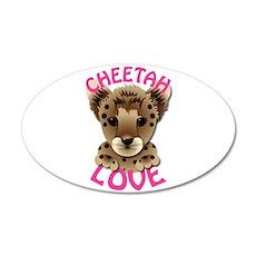 Cheetah Love 22x14 Oval Wall Peel