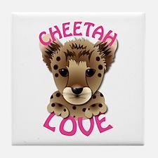 Cheetah Love Tile Coaster