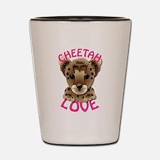 Cheetah Love Shot Glass