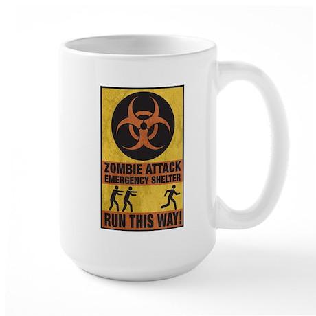 Zombie Attack Emergency Shelter Large Mug