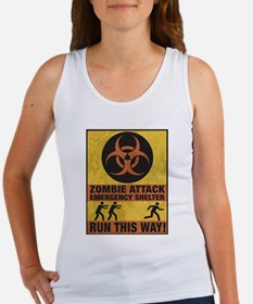 Zombie Attack Emergency Shelter Women's Tank Top