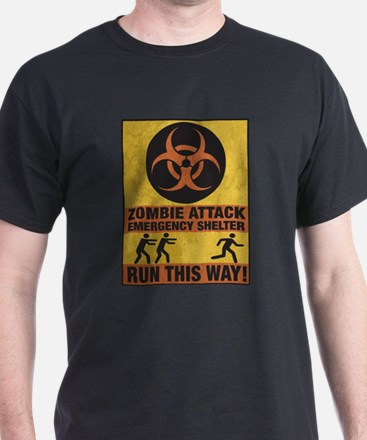Zombie Attack Emergency Shelter T-Shirt