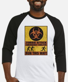 Zombie Attack Emergency Shelter Baseball Jersey