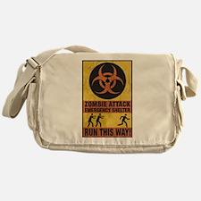 Zombie Attack Emergency Shelter Messenger Bag