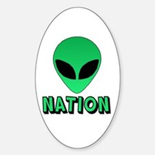 Alien Nation Oval Decal