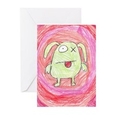 10 monster x greeting cards