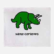 Name your own Triceratops! Throw Blanket