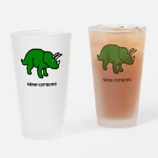Name your own Triceratops! Drinking Glass