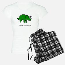 Name your own Triceratops! Pajamas