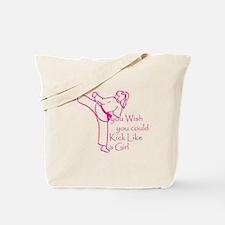You wish you could kick like Tote Bag
