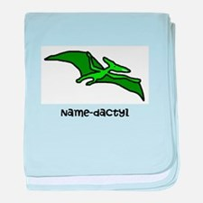 Name your own Pterodactyl! baby blanket