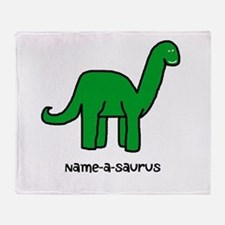 Name your own Brachiosaurus! Throw Blanket