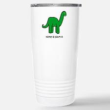Name your own Brachiosaurus! Travel Mug