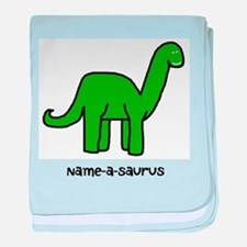 Name your own Brachiosaurus! baby blanket