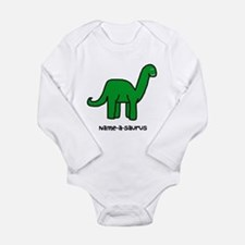 Name your own Brachiosaurus! Long Sleeve Infant Bo