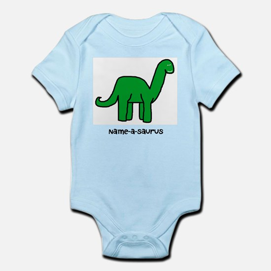 Name your own Brachiosaurus! Infant Bodysuit
