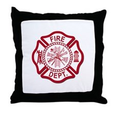 Firefighter Baby Throw Pillow