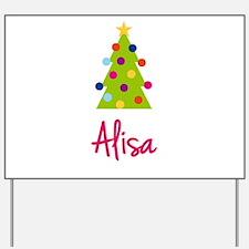 Christmas Tree Alisa Yard Sign
