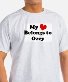 My Heart: Ozzy Ash Grey T-Shirt