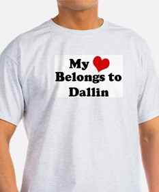 My Heart: Dallin Ash Grey T-Shirt