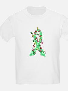Christmas Lights Ribbon Celiac Disease T-Shirt