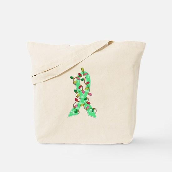 Christmas Lights Ribbon Celiac Disease Tote Bag