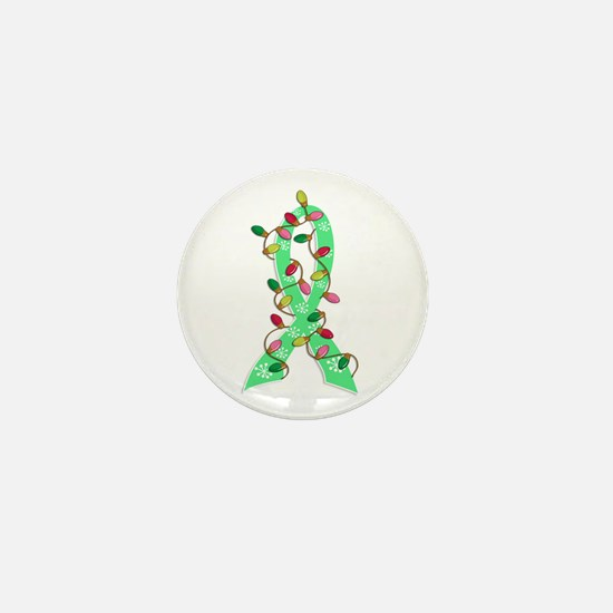 Christmas Lights Ribbon Celiac Disease Mini Button