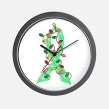 Christmas Lights Ribbon Celiac Disease Wall Clock