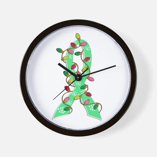 Christmas Lights Ribbon Celiac Disease Wall Clock