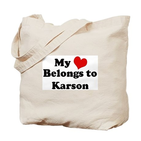 My Heart: Karson Tote Bag