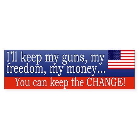 Keep the Change Bumpersticker
