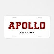 APOLLO - SON OF ZEUS! Aluminum License Plate