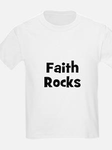Faith Rocks Kids T-Shirt