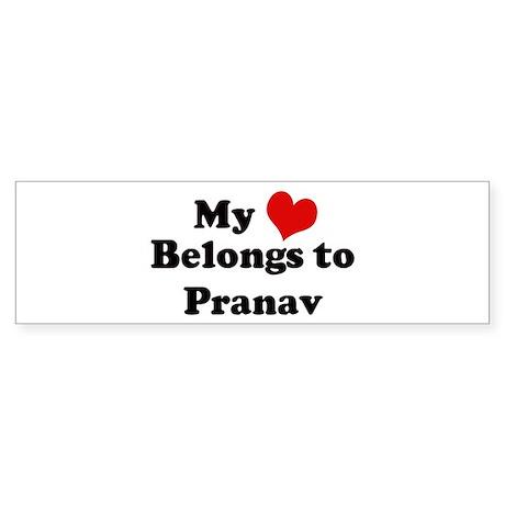 My Heart: Pranav Bumper Sticker