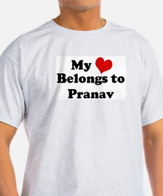 My Heart: Pranav Ash Grey T-Shirt