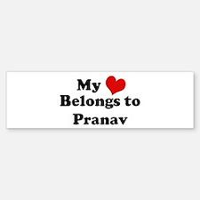 My Heart: Pranav Bumper Bumper Bumper Sticker