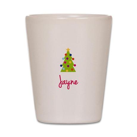 Christmas Tree Jayne Shot Glass